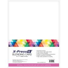 """X-Press Blending Card 8.5""""X11"""" 25/Pkg-White"""