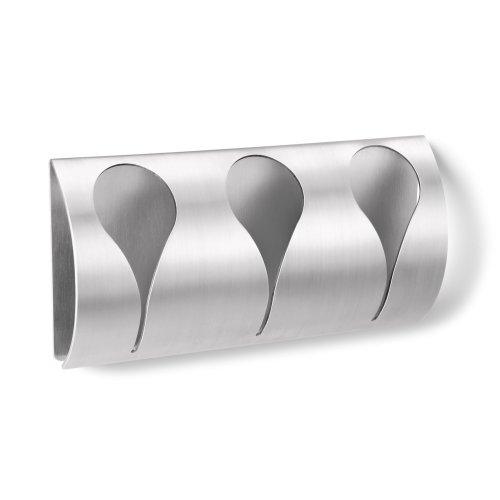Zack Genio Self-Adhesive Towel Clip Rack - Brushed Stainless Steel