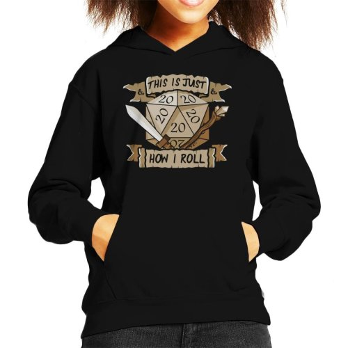 Dungeons And Dragons Just How I Roll Kid's Hooded Sweatshirt