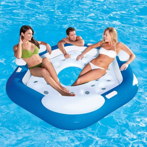 Bestway X3 Inflatable Island Lounger Pool Chair Air Bed Mat For 3 Person