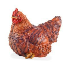 Onion the Realistic Resin Sitting Brown Hen/Chicken Garden Ornament