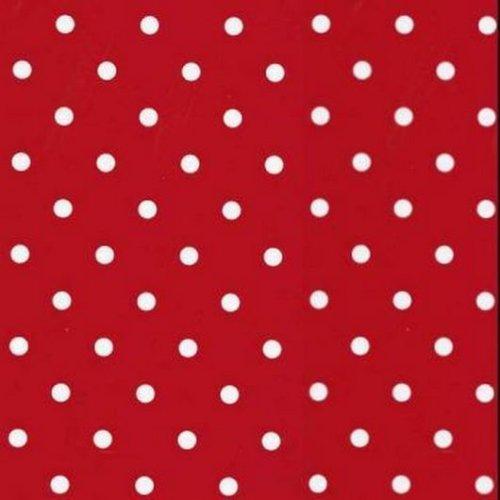 Vinyl Depot Sticky Self-Adhesive Decorative Fablon Polka Dot Red 450mm/m