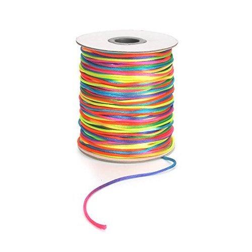 Darice 144 yard 2 Millimeter Satin Rattail Cording 2 mm Rainbow
