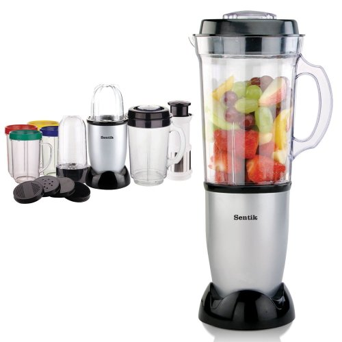 Sentik 8 in 1 Silver Multifunctional Blender Chopper Food Processor Smoothie Maker Mixer