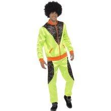 f37fd107d6d Smiffy s 43081l Retro Shell Suit Men s Costume (large) - mens shell suit  fancy dress costume retro scouser 80s tracksuit neon adult 1980s ladies