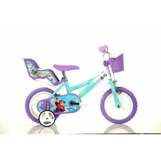 "Dino Disney Frozen Kids Girls Bike with Stabilisers - 12"" Wheels"