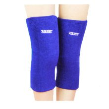 A pair of Cotton Knee Support Sleeves Brace Pads for Sports/Recovery - Blue