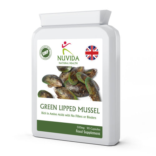 Green Lipped Mussel / 90 x 500mg Capsules / Rich in Amino Acids