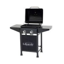 Cuba 2 Burner Gas Bbq with Side Shelves