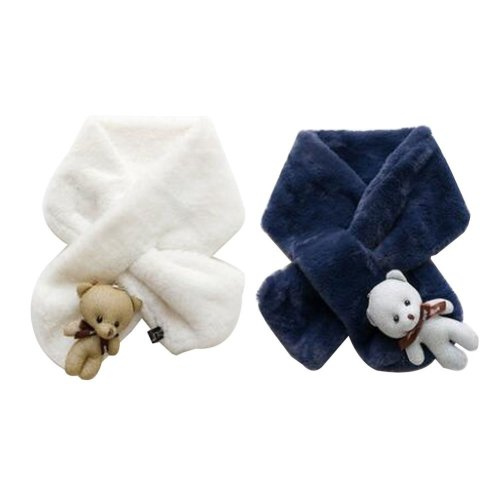 Set of 2 Cute Kids Scarves Children's Scarves Suitable for Winter [O]