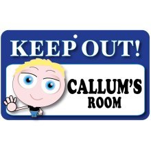 Keep Out Door Sign - Callum's Room