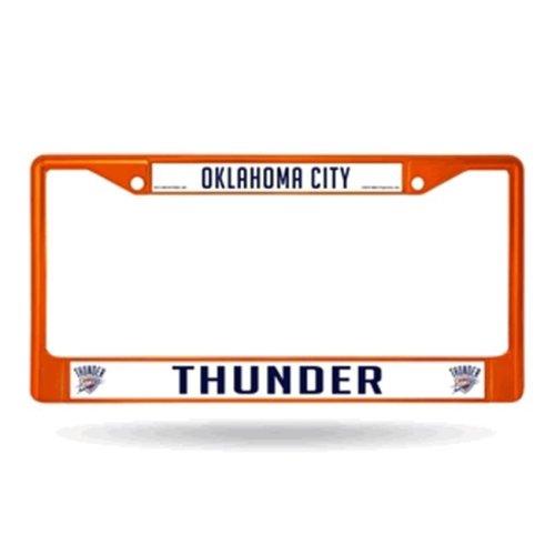 Oklahoma City Thunder Metal License Plate Frame - Orange