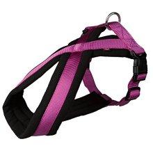 Trixie Premium Touring Dog Harness, 35 - 50cm x 20 Mm, Berry - Harness 50cm -  harness trixie dog premium touring berry 35 50 cm padded 20 mm