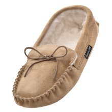 Ladies Sheepskin Suede Moccasin Slippers