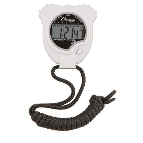 Champion Sports 910WH Stop Watch, White