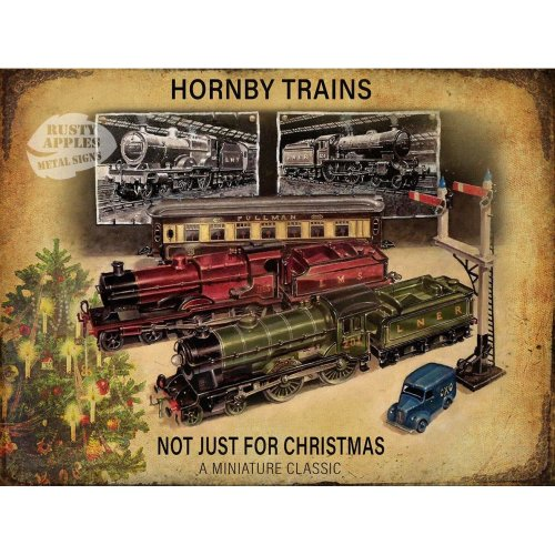 Hornby Train Set Not Just For Christmas Vintage Metal Sign : 8