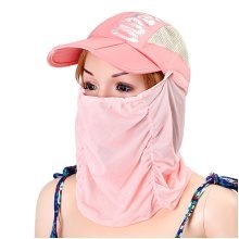 Women Foldable Breathable Face Mask Quick-dry Baseball Hat Outdoor Climbing Portable Visor Hats