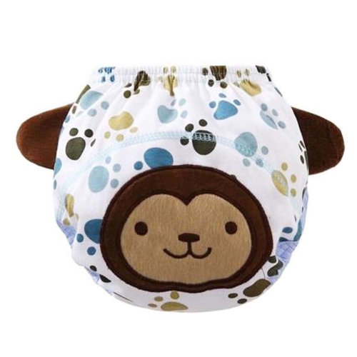 2 PCS Monkey Pattern Step Painting Leak-proof Babies Training Diapers