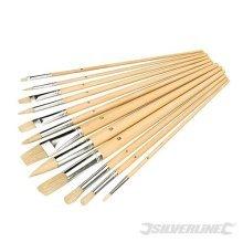 Silverline Artists Paint Brush Set 12pce Mixed Tips -  brush paint silverline set mixed 12pce tip 282606 brushes artist artists