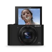 Sony DSCWX500 Digital Compact High Zoom Travel Camera with 180 Degrees Tiltable LCD Screen (18.2 MP, 30 x Optical Zoom, Wi-Fi, NFC) - Black