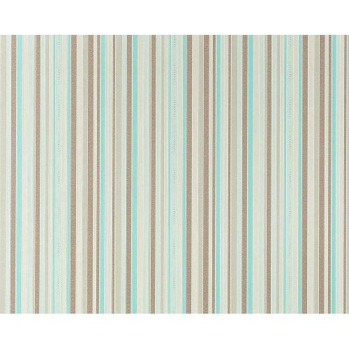EDEM 967-25 Luxury stripe non-woven wallpaper classic style turquoise | 10.6 sqm