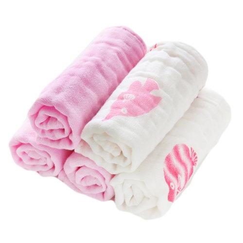 Soft Cotton Bath Towels Absorbent Towels for Kids 5 Pcs