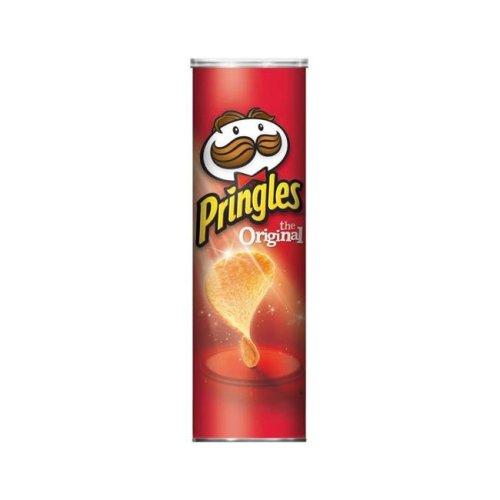 Pringles 9133364 5.26 oz Original Potato Chips Can- pack of 14