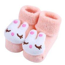 2 Pairs of Cozy Designer Unisex-Baby Cotton Socks Baby Gifts, rabbit