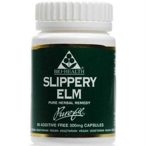 Bio Health Slippery Elm 300mg Powdered Bark 60 Capsules