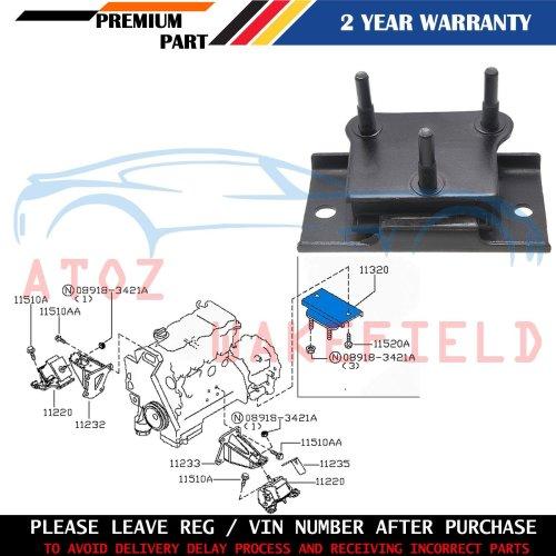 FOR NISSAN NAVARA D40 PATHFINDER 2.5 R51 YD25DDTI REAR ENGINE GEARBOX MOUNTING