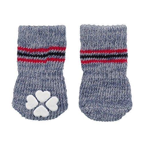 Trixie Anti-slip Dog Socks, 1pair, Grey/xxs/xs - Socks Floor Extra -  dog socks floor extra trixie