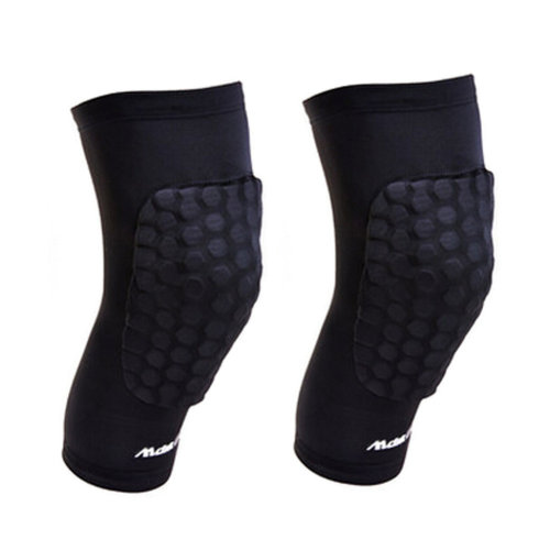 Set of 2 Outdoors Safety Sleeve Protector Knee Pad Honeycomb Crashproof Black