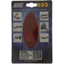 Reflector - Hella Oval Red S/a Dp - Maypole 8562 New -  reflector hella oval red maypole 8562 new
