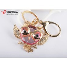 Large Owl Crystal Diamante Rhinestone Bag Charms Handbag Keyrings Pendant Key Chain