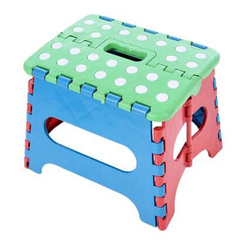 Creative Plastic Foldable Step Stool Portable Folding Stools Stepstool for Kids & Adults, No.13