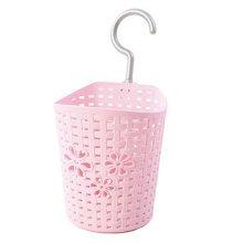 12CM Multipurpose Plastic Storage Basket Household Organizer , Pink Flowers