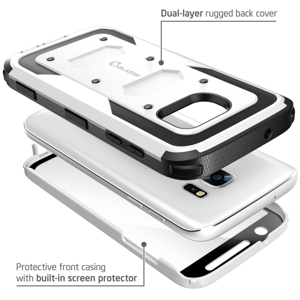 big sale 45555 3f51d i-Blason Galaxy S7 Case, [Armorbox] built in [Screen Protector] [Full body]  [Heavy Duty Protection ] Shock Reduction/Bumper Case for Samsung Galaxy...
