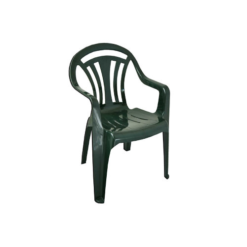 Wham Plastic Low Back Chair Green Arm Chairs Indoor/Outdoor Parties,Dinning,Garden