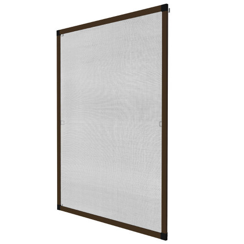 Fly screen for window frame 80 x 100 cm brown