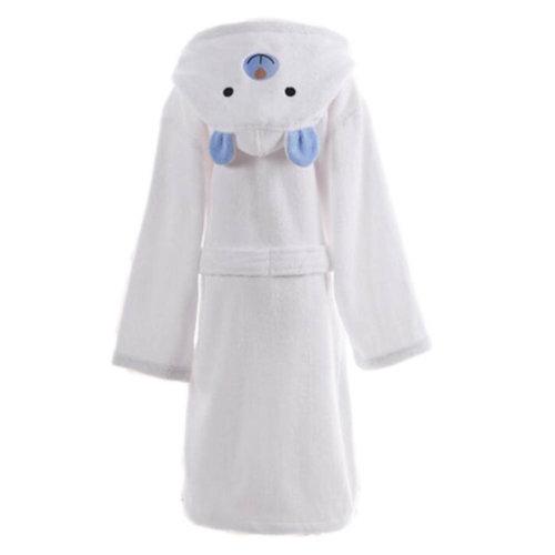 Children Cotton Bathrobe Soft Swim Bath Gown Robes Pajamas with Hat-A06