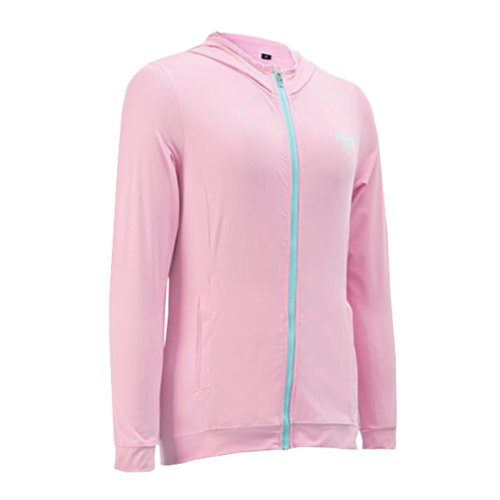 Womens Golf Ice Silk Coat Outdoor Sun Protective Clothing Pink