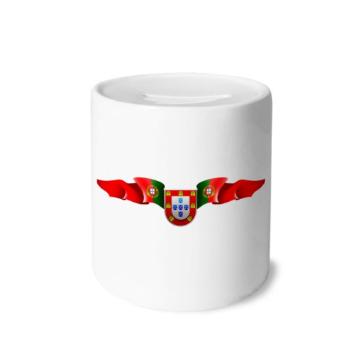Portugal National Emblem Country Symbol Money Box Saving Banks Ceramic Coin Case Kids Adults