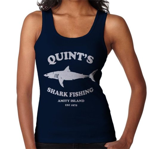 Quints Shark Fishing Amity Island Jaws Women's Vest