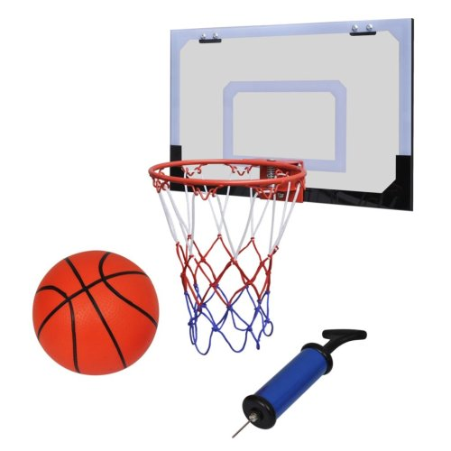 vidaXL Mini Basketball Goal Hoop Net Set with Ball Pump Indoor Sporting Goods