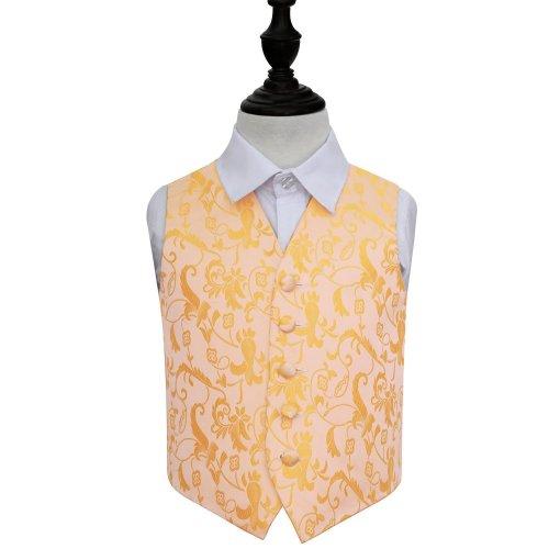 Gold Floral Wedding Waistcoat for Boys 28'
