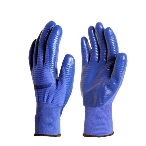 4 Pairs Stretchy Nylon Hand Protective Working Gloves Blue