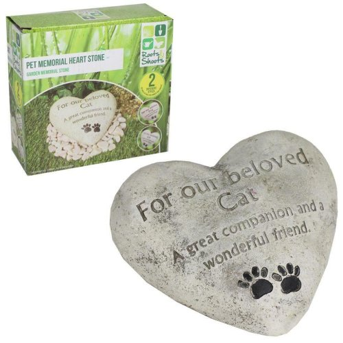 Heart Shaped Memorial Plaque Memory Stone - Our Beloved Cat
