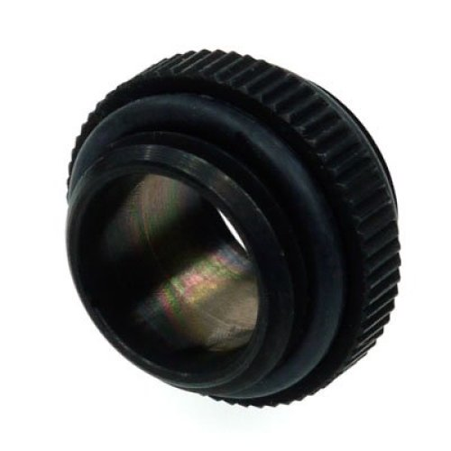 Alphacool Double Nipple G1/4 Outer To G1/4 Outer ORing Black