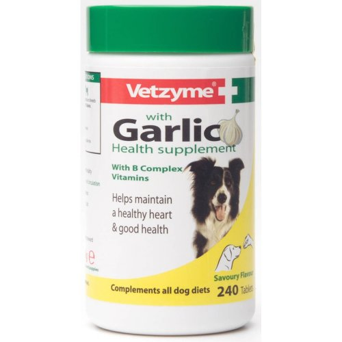 Vetzyme Dog Supplement With Garlic 240 Tablets (Pack of 6)