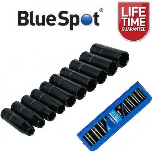 "BlueSpot 10 Piece 1/2"" Drive Metric Deep Impact Socket Set 10 - 24mm"